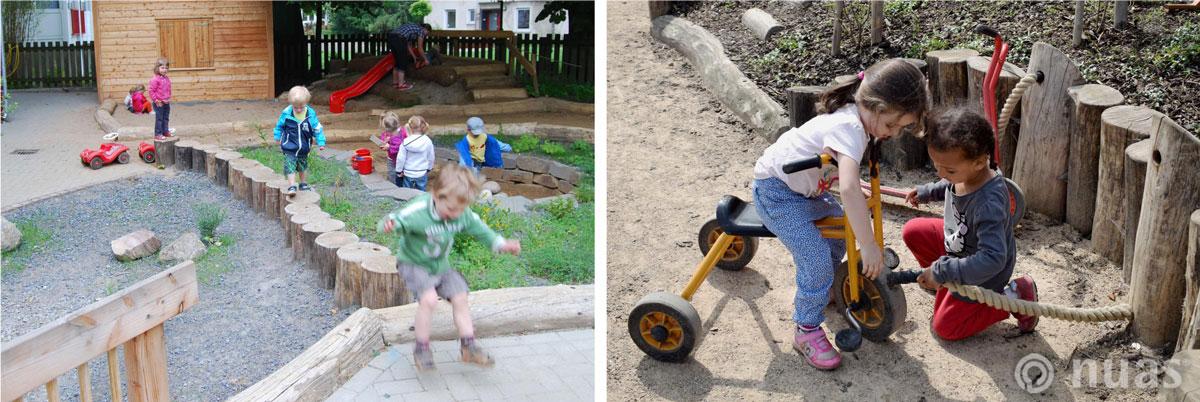 nuas Kindergarten Schule: Lust auf Leben / Draussen spielen