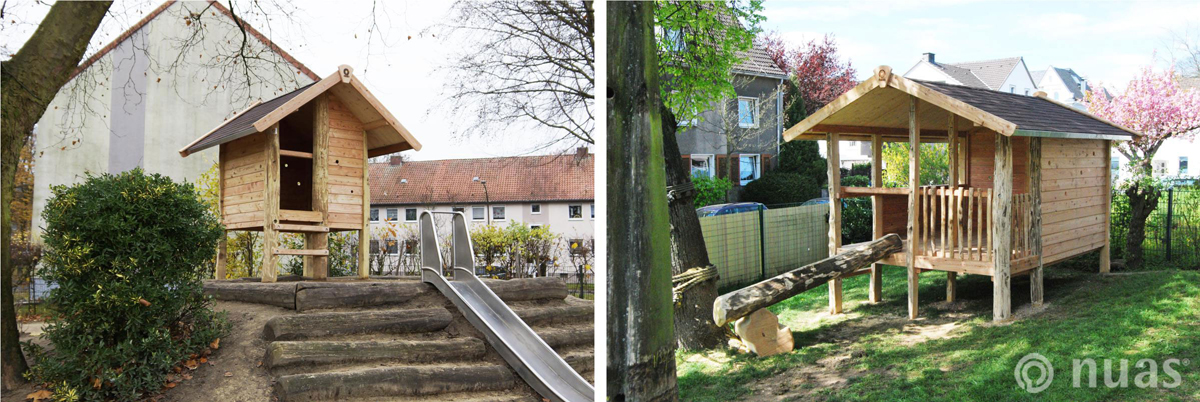nuas Kindergarten Schule: Gipfelhaus und Villa Spielhäuser